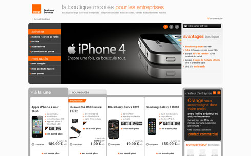 Orange Business | Boutique mobiles